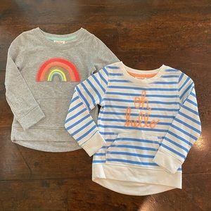 2 Cat & Jack Sweatshirts from Target. XS 4/5